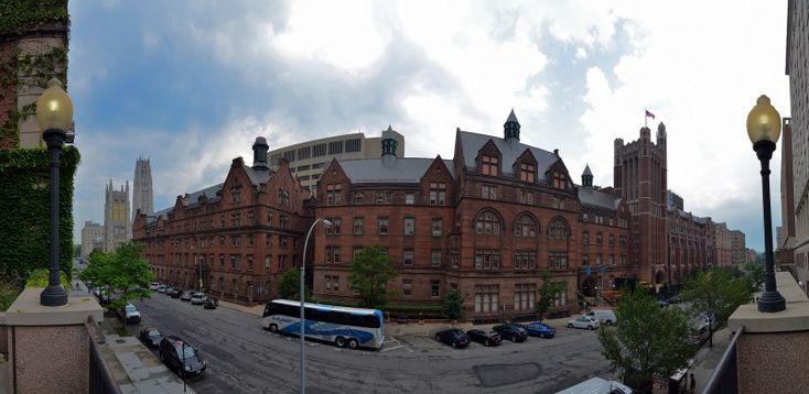 columbia university north side panorama w 120th street the riverside church