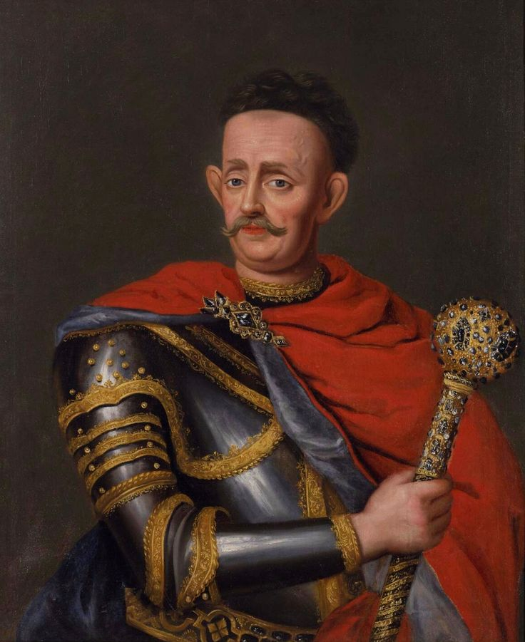 Portrait of Kazimierz Jan Sapieha, Grand Hetman of Lithuania with a diamond bulava mace by Claude Callot, ca. 1684 (PD-art/old), Nationalmuseum in Stockholm