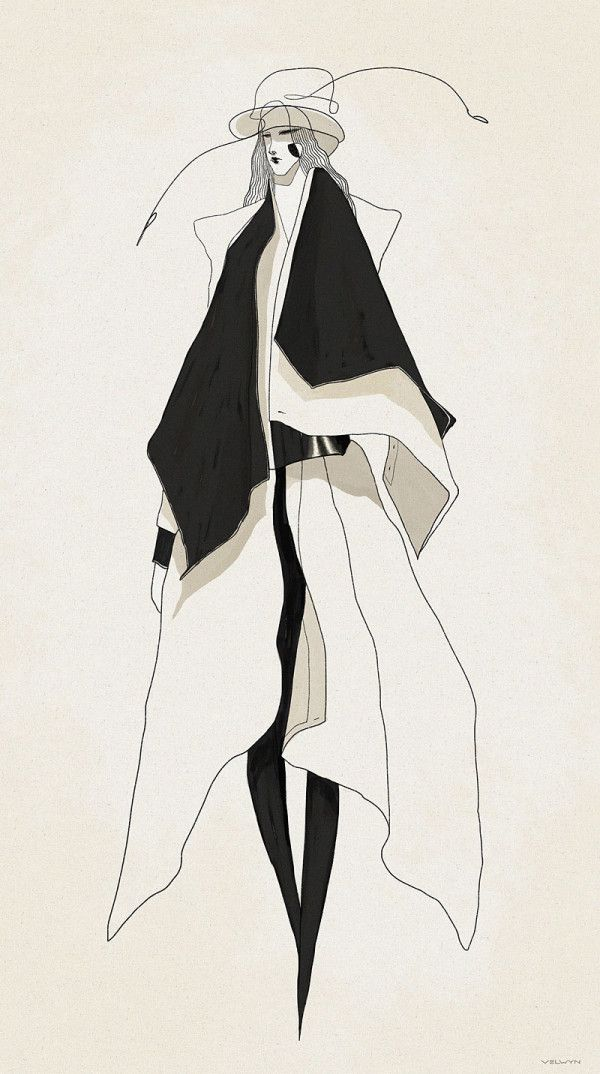 Awesome fashion illustrations by London-based illustrator and designer Velwyn Yossy - http://www.velwyn.com