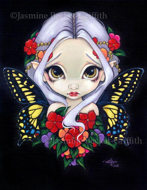 Jasmine Becket-Griffith Spring Fairies | Impatiens Fairy spring flower fairy art print by Jasmine Becket ...