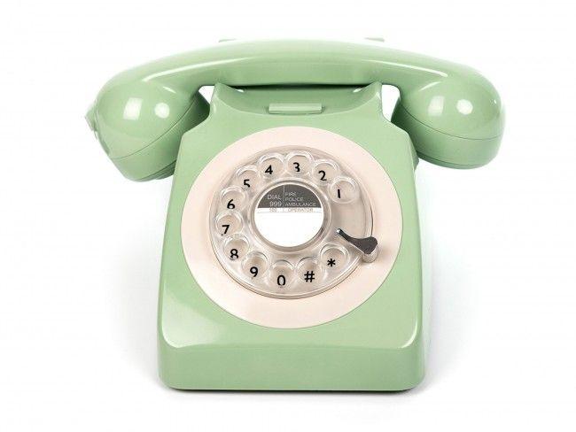 GPO 746 Draaischijf Groen - Telefonie - 123platenspeler.nl
