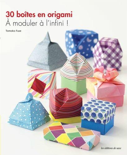 Un livre à acheter de toute urgence : Boite en origami de Tomoko Fuse