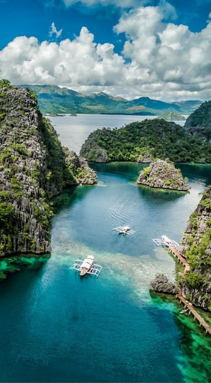 Drone view Coron Island, Philippines. Amazing Drone Photos of the Philippines. Photo Location: Coron Island, Philippines. Coron Island is the reason people travel to this part of the Philippines. It is the most visited island in the area and for good reason. Click to see more Amazing Drone Photos of the Philippines by the Divergent Travelers Adventure Travel Blog at http://www.divergenttravelers.com/drone-photos-of-the-philippines/
