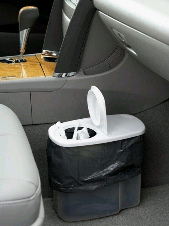 Cereal container for trash #organization #car accessories