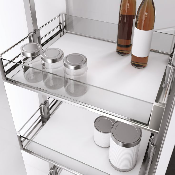 Vauth-Sagel's HSA Pull Out Pantry Unit with Premea Artline finish