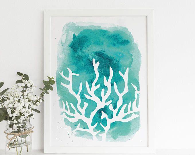 Teal Wall Art best 25+ coral wall art ideas on pinterest | hallway wall decor