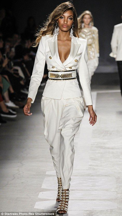 Olivier called on his most famous model pals, including, Jourdan Dunn to walk in his glitt...