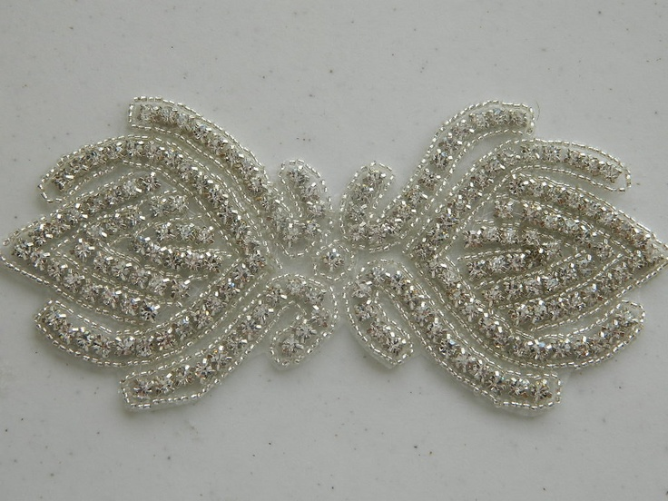 Bridal Accessories Crystal Applique Wedding Applique Rhinestone Applique Rhinestone Applique Sash Applique Model:DSCN2307. $14.95, via Etsy.
