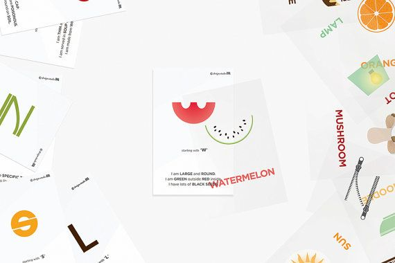 What am I _ Overlapping word cards for kids _ by DesignStudioHR