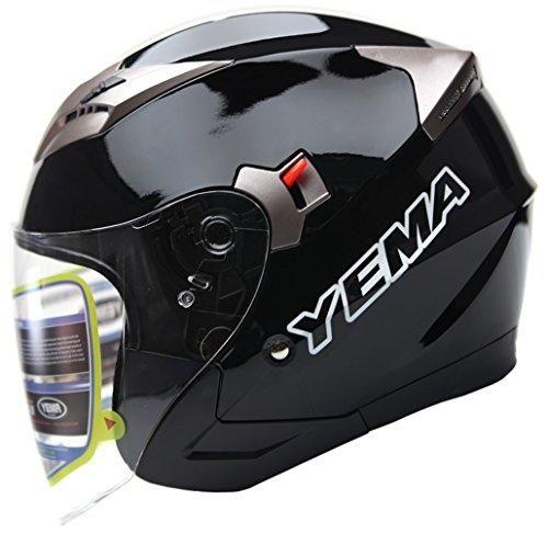 Oferta: 59.99€ Dto: -37%. Comprar Ofertas de YEMA Helmet YM-627 Casco Jet Moto con Doble Visera-Negro-S barato. ¡Mira las ofertas!