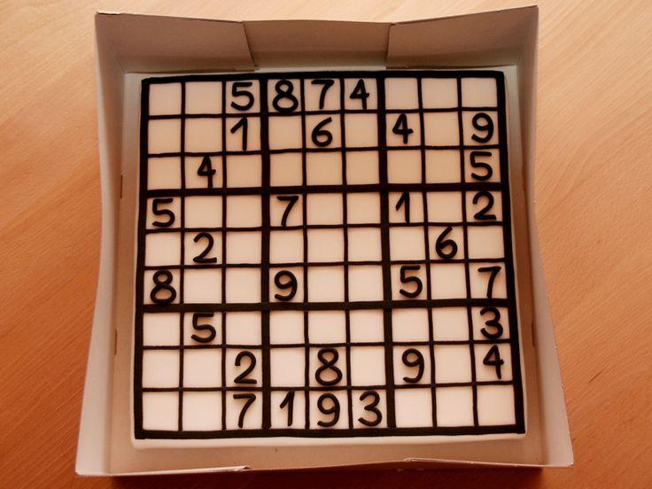 Sudoku - Cake with sugarpaste