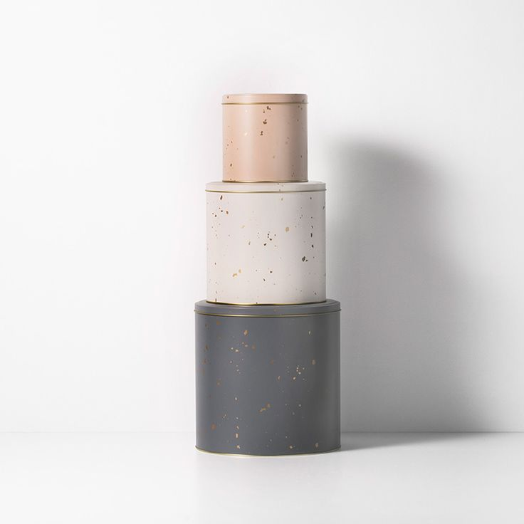 Confetti Tin Boxes (set of 3) - ferm LIVING Storage - FAST DELIVERY