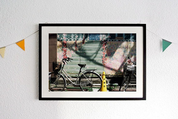 Life is bicicle photograph print by nuishu on Etsy
