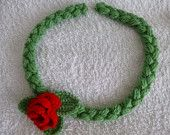 Crochet Freeform Necklace Seabed by TheLacyNook on Etsy