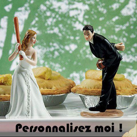 Pour les couples sportifs, fan de baseball, alors cette figurine de mariage est faîte pour vous ! c'est l'une des nouveautés Instemporel pour décorer votre gâteau :  http://www.instemporel.com/s/3446_186853_figurine-baseball