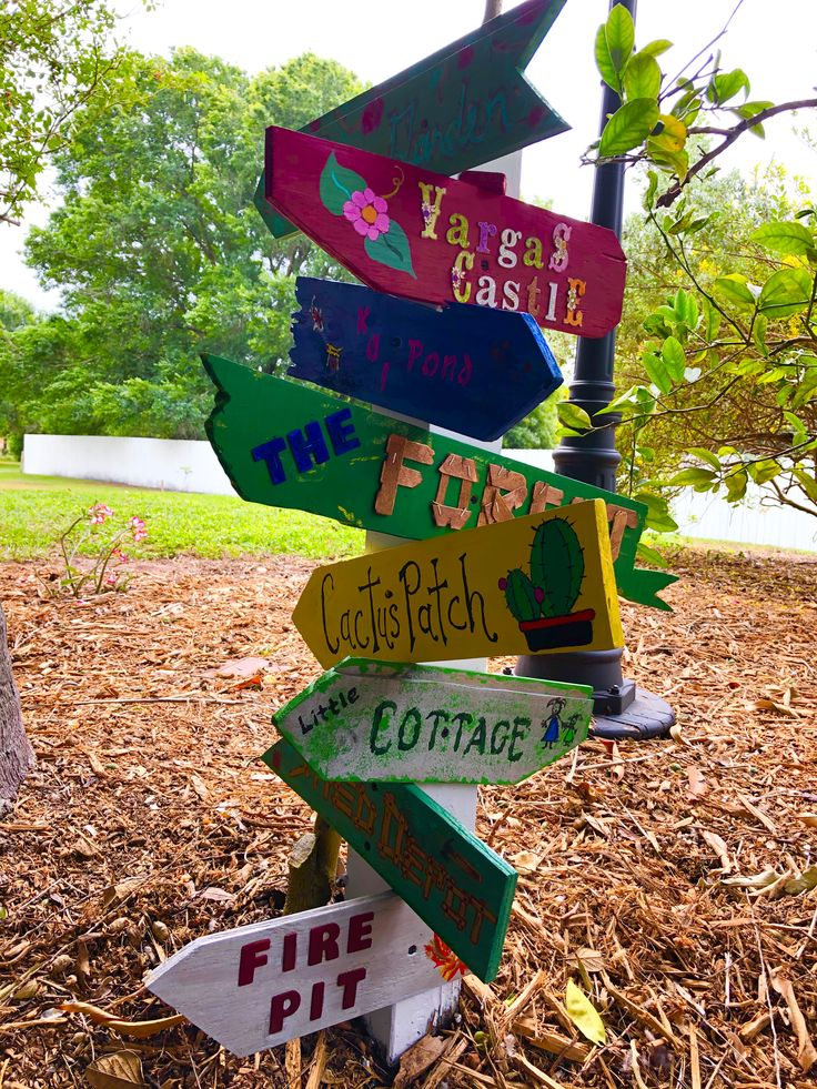 Garden directional signs homemade signs wooden letters