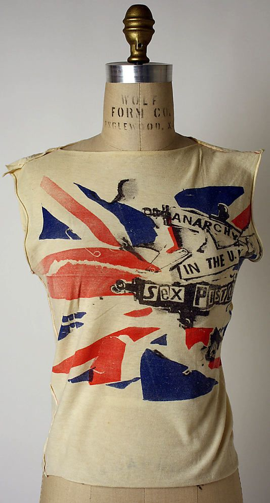 Vivienne Westwood (British, born 1941). Anarchy in the UK, 1976. British. The Metropolitan Museum of Art, New York. Purchase, Richard Martin Bequest and Friends of The Costume Institute Gifts, 2006 (2006.253.10) #punkfashion