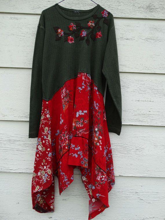 Upcycled Clothing / Funky Eco Tunic Dress / by CuriousOrangeCat