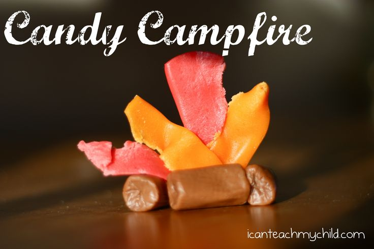 These little campfires were so fun and SO EASY to make!  I planned on having the kids at Big Brother's birthday party make them, but then I forgot about th