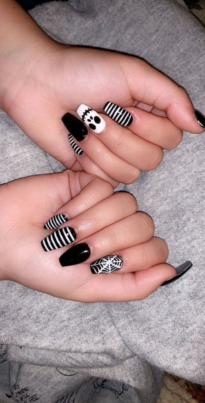 100 Halloween Manicures You Need To See And Try Disney Nails Halloween Nail Designs Halloween Nails