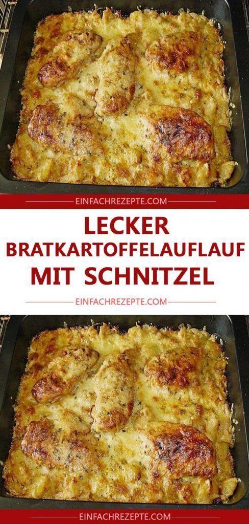 LECKER Bratkartoffelauflauf mit Schnitzel 😍 …