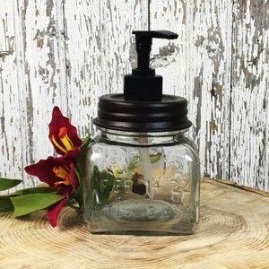 Square Glass Soap Pump