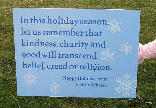 Do you see that you snarky Freedom from Religion people? This is how you make a decent holiday sign.