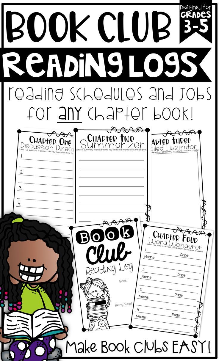 I love doing Book Clubs or Literature Circles in my classroom! These Reading Log booklets are the perfect way to monitor comprehension and keep students accountable while reading ANY chapter book!