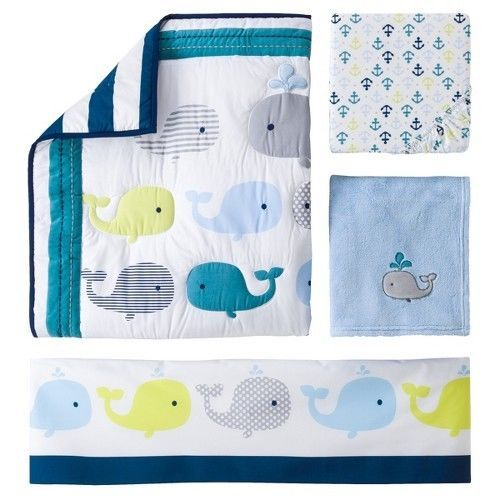 Circo whales and waves Bedding