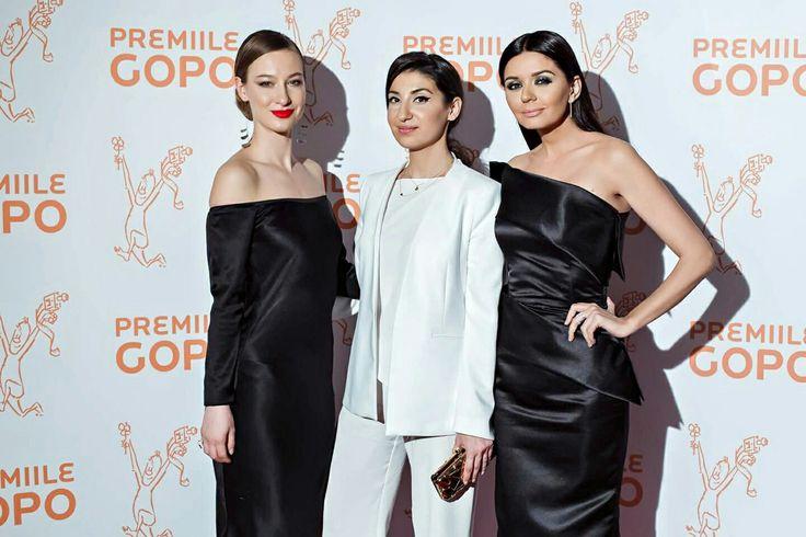 Adina Ursache, Laura Hîncu, and Albertina Ionesch attenting Gopo Awards Gala #blacktie 🎥 shop.laurahincu.ro #lhsilkessentials