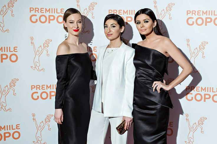 Adina Ursache, Laura Hîncu, and Albertina Ionesch attenting Gopo Awards Gala #blacktie 🎥 shop.laurahincu.ro #lhsilkessentials