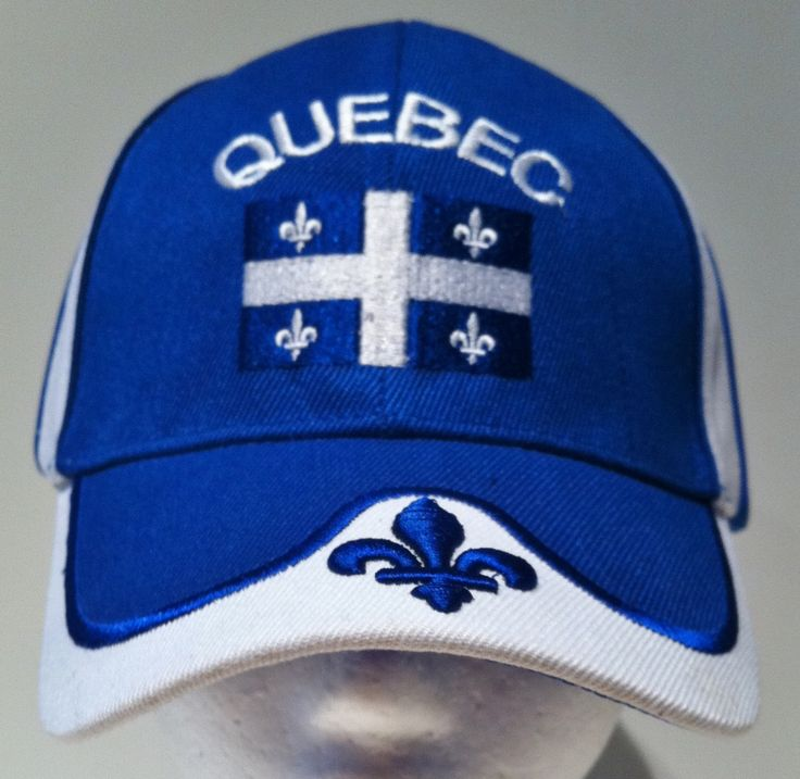 Quebec Flag Canada Fleur De Lys Hat Cap Baseball Blue Embroidered New #quebec #quebeccity #quebechat #quebeccap #quebecbaseballcap #quebecbaseballhat #fleurdelis #fleurdelys #jemesouviens #labelleprovince #baseballcap #baseballhat