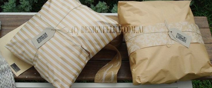 Beautiful brown paper gift wrapping with Australian Made Paper and Tags.  Gift Wrapped and Photographed by designfelice.com.au (C) DESIGN FELICE 2015