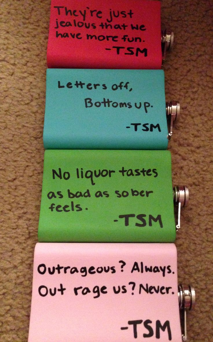 flask diy personalized gifts! :) Good for siblings, bridesmaids, groomsmen, partners in crime.. haha