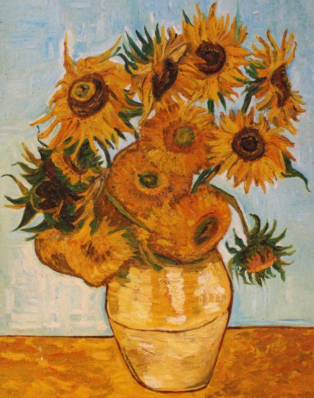 VASO con dodici girasoli (copia di Van Gogh 1888) di atelierdangelone su Etsy