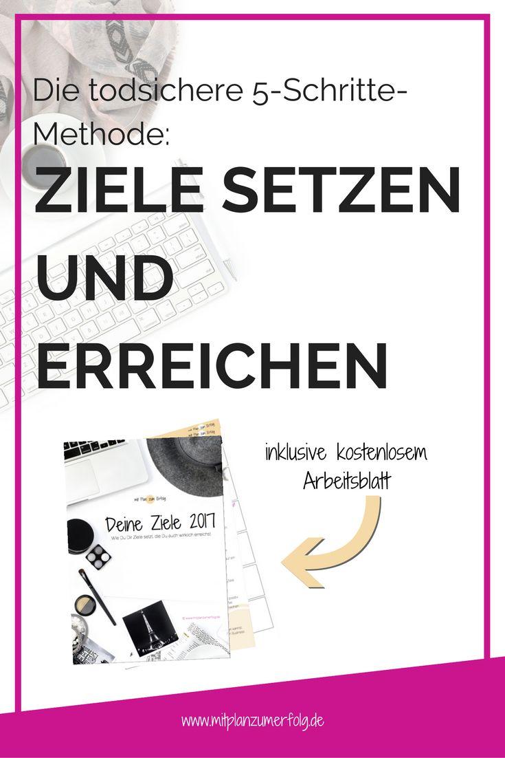 Contemporary Vorlage Für Das Setzen Von Zielen Arbeitsblatt Image ...