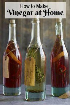 How to Make Vinegar at Home - http://www.thebudgetdiet.com/how-to-make-vinegar-at-home?utm_content=snap_default&utm_medium=social&utm_source=Pinterest.com&utm_campaign=snap