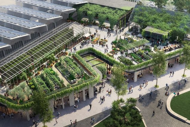 """Sustainable designer Joost Bakker says an urban farm atop a new shopping centre in suburban Melbourne will """"truly support a sustainable world."""""""