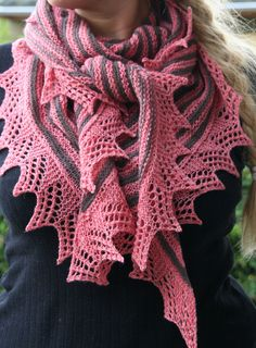 The shawl is one of 10 designs in Amimono 2010 booklet