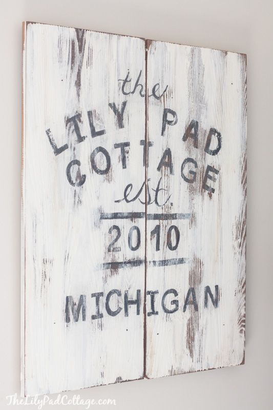 Cottage Sign featured on The Lilypad Cottage