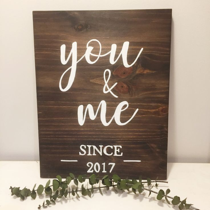 You & Me - Valentines Day Wood Sign