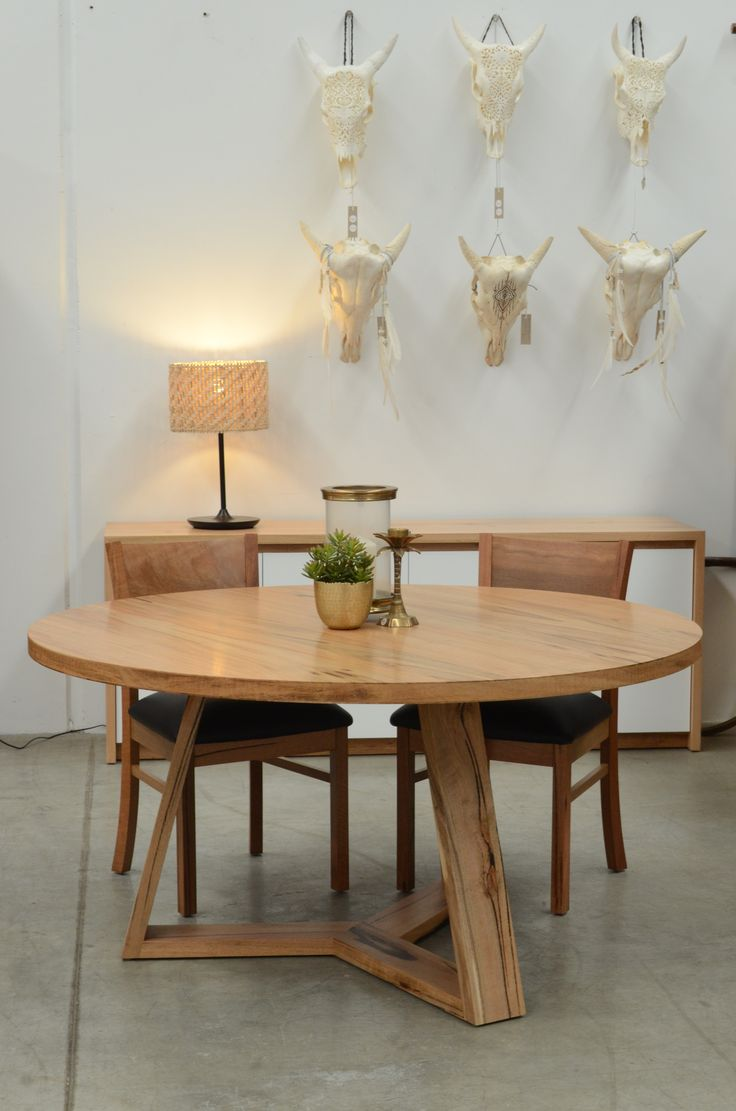 Baye Dining Table This locally made1500mm round table is available in both marri and jarrah. The General Store Furniture Co