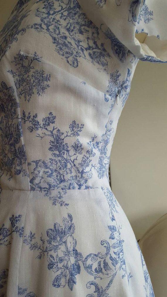 Handmade dress  vintage style  1950s pattern  summer dress
