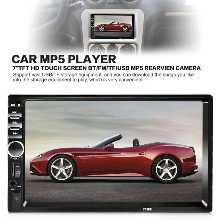Hot New 7 Inch Bluetooth Audio In Touch Screen Car Radio Car Audio Stereo Car MP3/MP4/MP5 Player USB Support for SD/MMC
