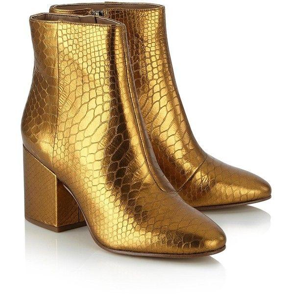 new style 1edc1 0b842 Sam Edelman Taye Metallic Heeled Boots- Gold (140 AUD ...