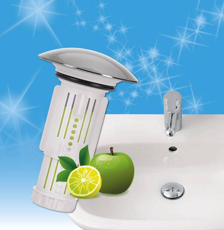 """Abfluss-Fee mit Duftstein """"Apfel-Zitrone"""""""