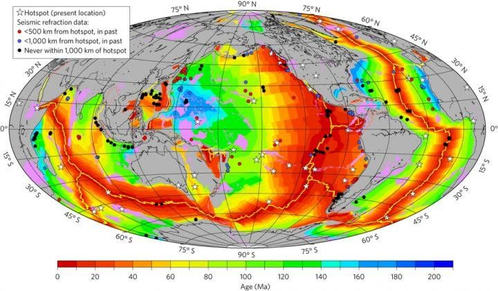 The oceanic crust produced by the Earth today is significantly thinner than crust made 170 million years ago during the time of the supercontinent Pangea, according to researchers. The thinning is related to the cooling of Earth's interior prompted by the splitting of the supercontinent. The findings give a more nuanced view of the mantle temperature that influences tectonics on Earth.