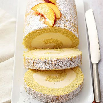 Peach Cake Roll | Midwest Living