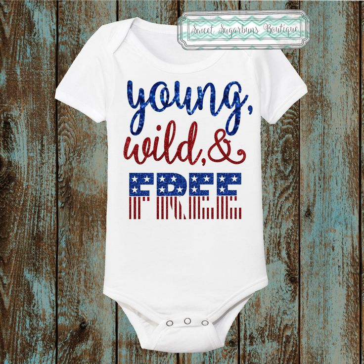 Young, Wild, and Free Patriotic Outift; Royal Blue and Red Glitter; Smooth Royal Blue and Red; Boy or Girl Fourth of July Outfit; Ships fast by SweetSugarbuns on Etsy https://www.etsy.com/listing/233353880/young-wild-and-free-patriotic-outift