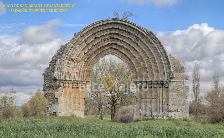 Arco de San Miguel de Mazarreros, Sasamón, Burgos. Estilo gótico